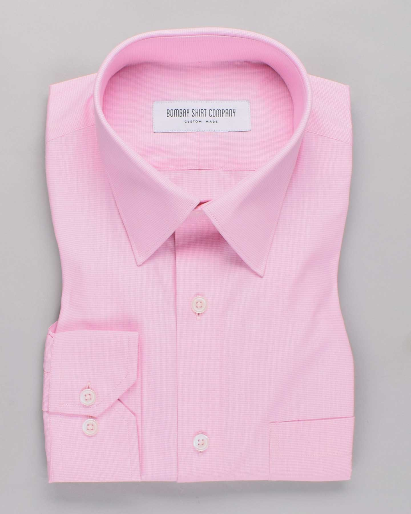 Pink Micro Houndstooth Shirt
