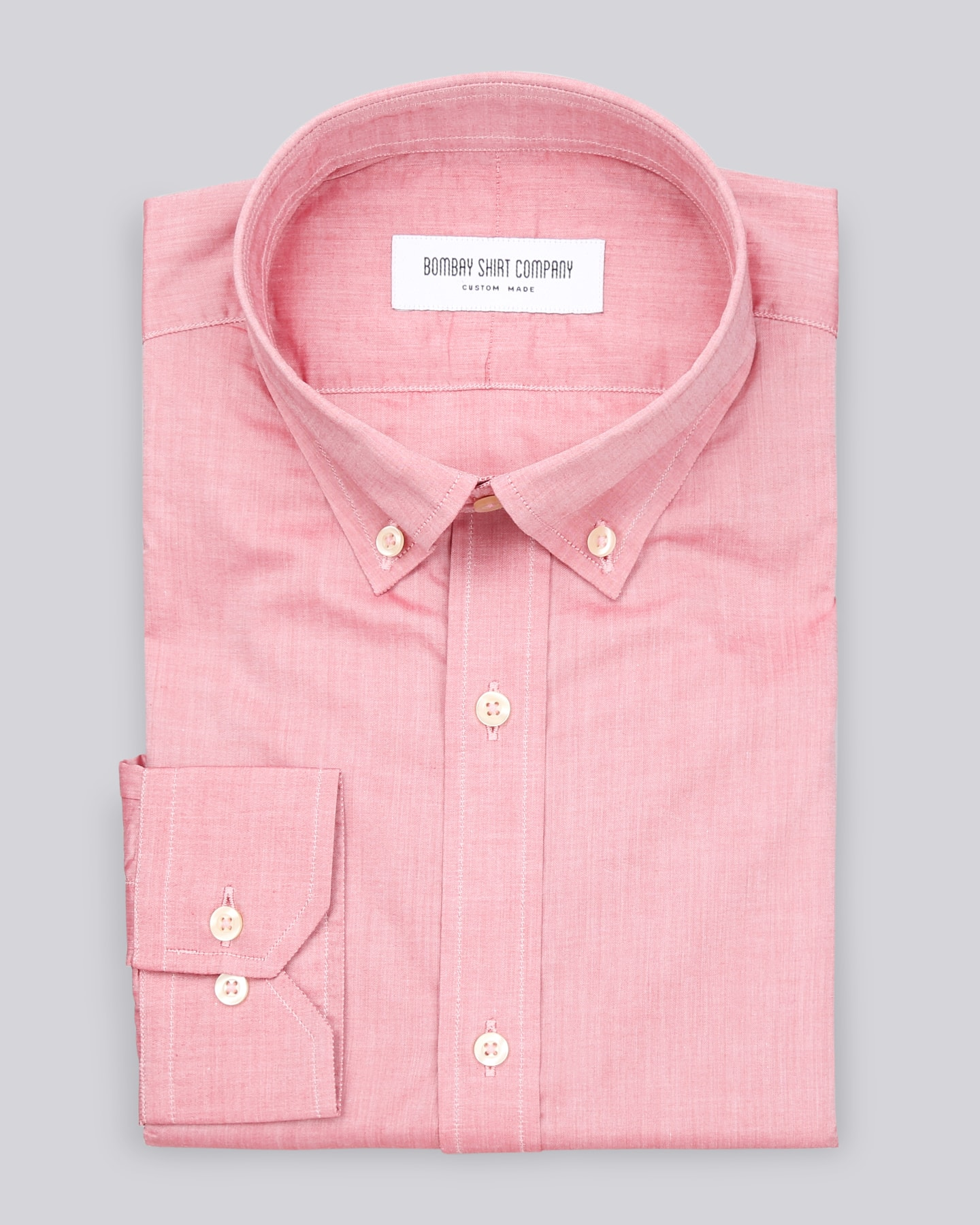 Pinkish-Red Chambray Shirt