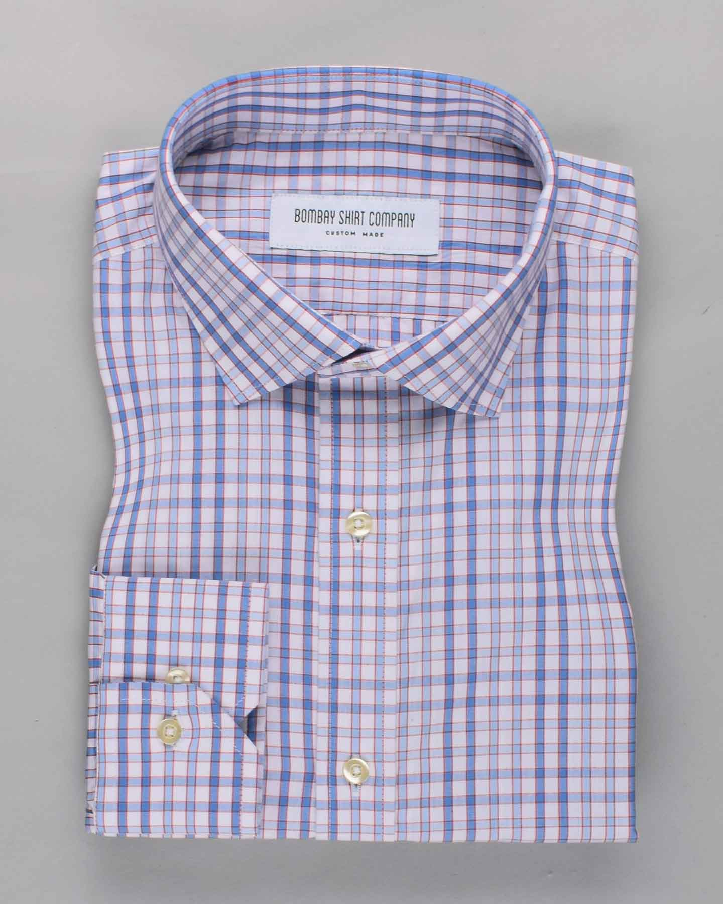 Electric Blue Checks Shirt